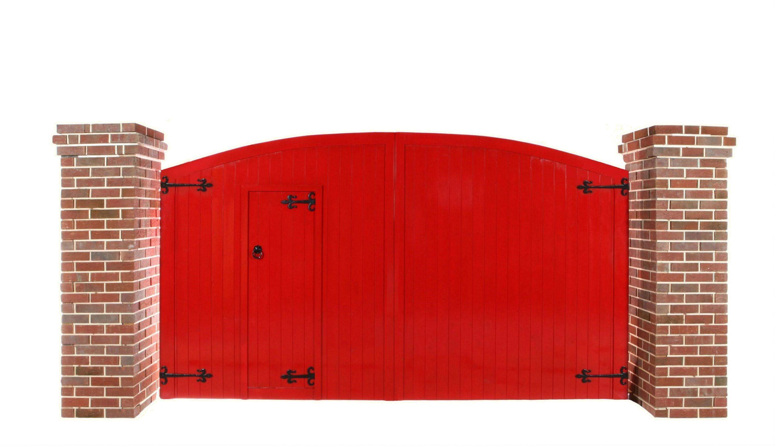 Courtyard Security Gate with Door